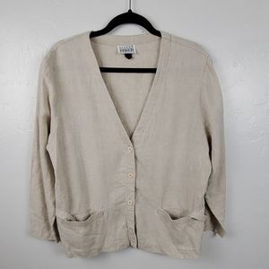 Vintage Eileen Fisher cardigan buttons up women